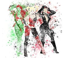 SuperVillain Trinity Splatter Graphic by ProjectPixel