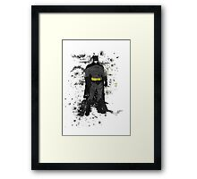 Superhero Splatter Art Framed Print