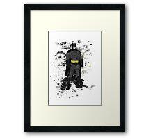 Superhero Splatter Art Framed Print
