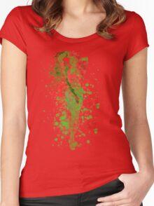 SuperVillain Splatter Graphic Women's Fitted Scoop T-Shirt