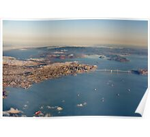 A Plane's Eye View of the San Francisco Bay and Beyond Poster