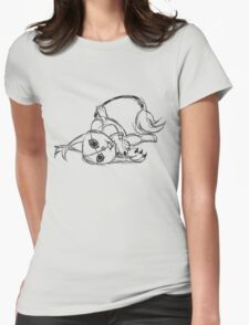 Sketchy Gatomon Womens Fitted T-Shirt