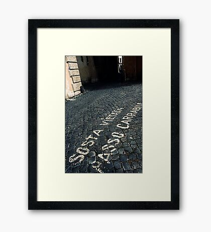Just Stay Out Of The Way!!!! Framed Print