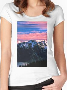 SUNSET,OLYMPIC NP Women's Fitted Scoop T-Shirt