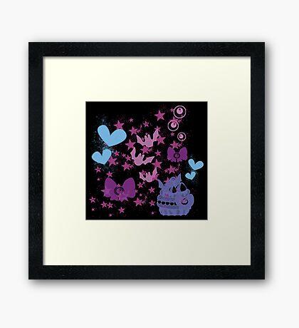 Pastel Goth Pattern Framed Print