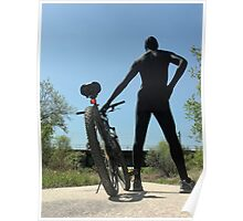 Black Zentai and Bike 3 Poster