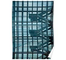 Blue Glass Stairway Poster