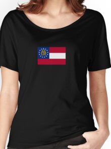 Georgia USA State Atlanta Flag Bedspread T-Shirt Sticker Women's Relaxed Fit T-Shirt