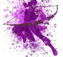 Hawkeye Splatter Graphic by ProjectPixel