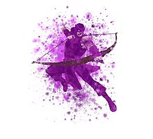 Hawkeye Splatter Graphic Photographic Print