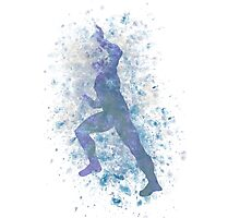 Quicksilver Splatter Graphic Photographic Print