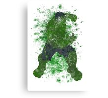 Hulk Splatter Graphic Canvas Print