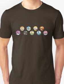 Eeveelution Pokeballs Unisex T-Shirt