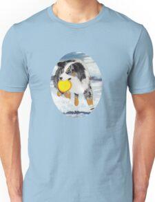 Frisbee Dog ~ Australian Shepherd ~ t-shirt & Sticker Unisex T-Shirt