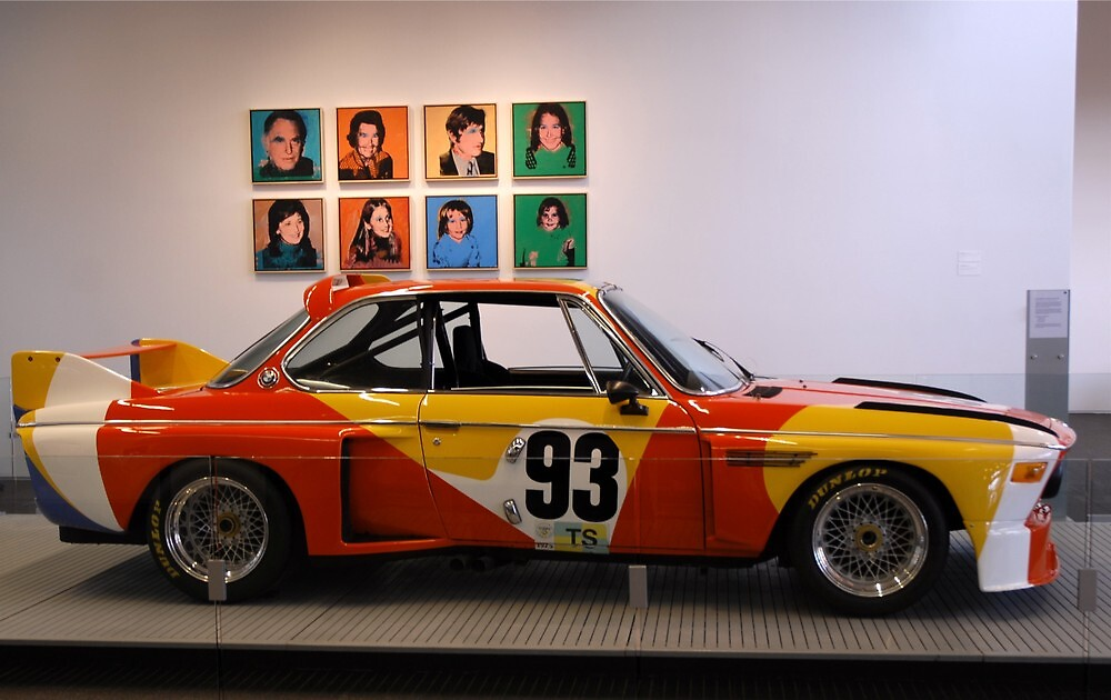 Alexander Calder BMW 3.0 CSL Art Car by Steve Mezardjian