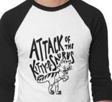 The Attack of Kitty-O-Saurus! Men's Baseball ¾ T-Shirt