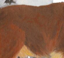 Aussie Pair ~ Australian Shepherd ~  sticker and T-shirt Sticker