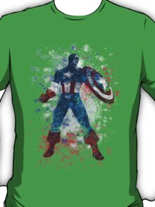 Captain America Splatter Graphic T-Shirt