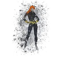 Black Widow Splatter Graphic Photographic Print