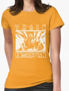 Train Insaiyan - dark Womens Fitted T-Shirt
