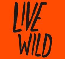 Live Wild Typography Kids Tee