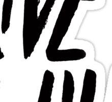 Live Wild Typography Sticker