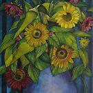 still-life with sunflowers by elisabetta trevisan