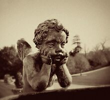 Bored Cherub by witchlyn