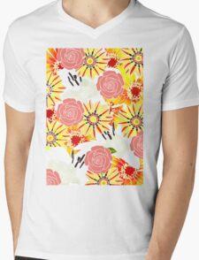 Flowers Of Summer Mens V-Neck T-Shirt