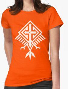 Bird of Pray (white) Womens Fitted T-Shirt