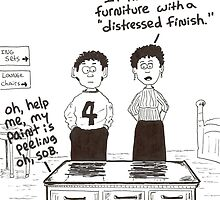 cartoon of distressed furniture by Dan Wagner