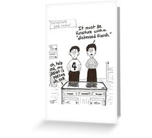 cartoon of distressed furniture Greeting Card