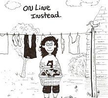 cartoon of online work by Dan Wagner