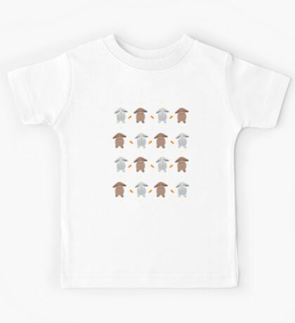 Bunnies, Carrots And Flowers Kids Tee