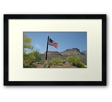 Apache Trail Flag Framed Print