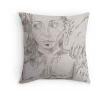 Prelude to the Life of a Battery Hen Throw Pillow