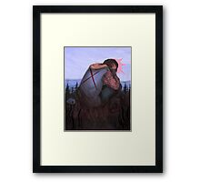 Heavy on Your Shoulders Framed Print
