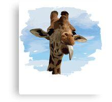 I Am Giraffe - Silly Giraffe Canvas Print