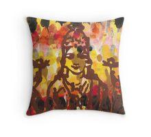 Lakshmi Goddess of Abundance yoga inspired art Throw Pillow
