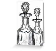 Debauchery With Class ...Antique Glass Greeting Card