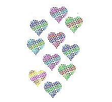 Glitter Hearts Photographic Print