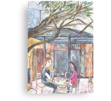Afternoon at the Italian Café in Leichhardt Canvas Print