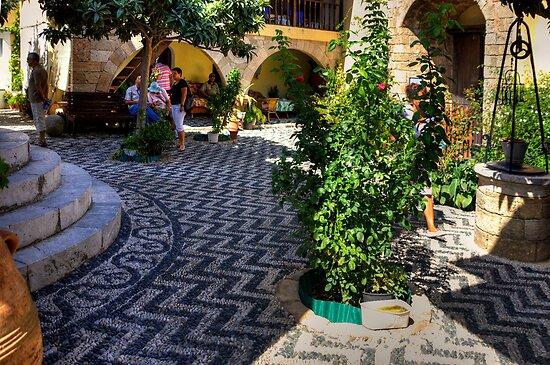 Süleyman Mosque Courtyard by Tom Gomez