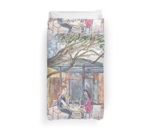 Afternoon at the Italian Café in Leichhardt Duvet Cover