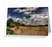 Lakeside Skyscape HDR Greeting Card