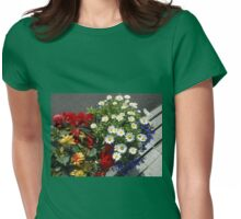 Daisies, Dahlias, Begonias and Lobelia - Planter Display Womens Fitted T-Shirt