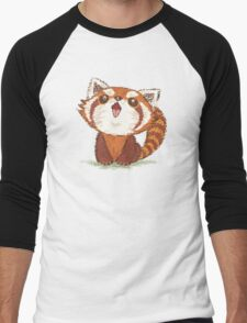 Red panda happy Men's Baseball ¾ T-Shirt