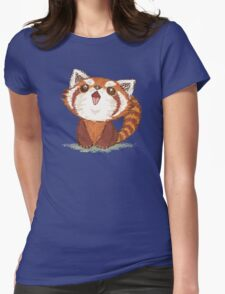 Red panda happy Womens Fitted T-Shirt