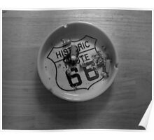 Route 66 Ashtray  Poster