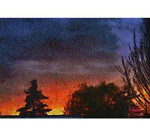 Modern sunset in Edegem - Belgium Photographic Print